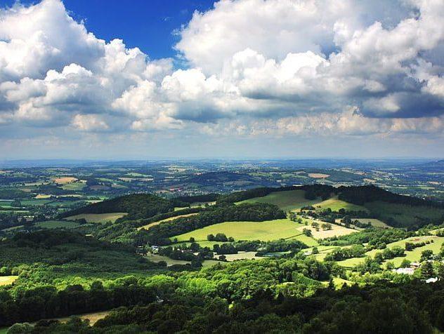 Cloudy Malvern Hills