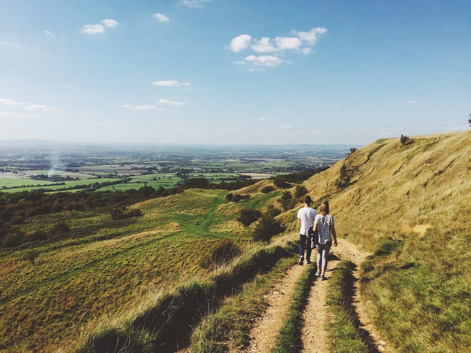 Walking in the Cotswolds Hills
