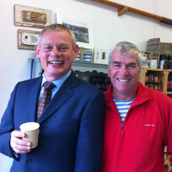John Brown with Martin Clunes