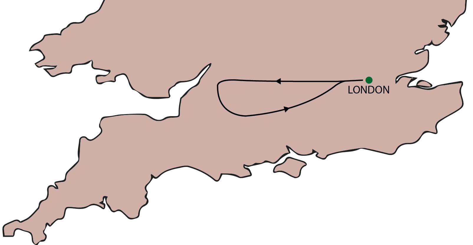 Bath & Stonehenge Tour from London Map