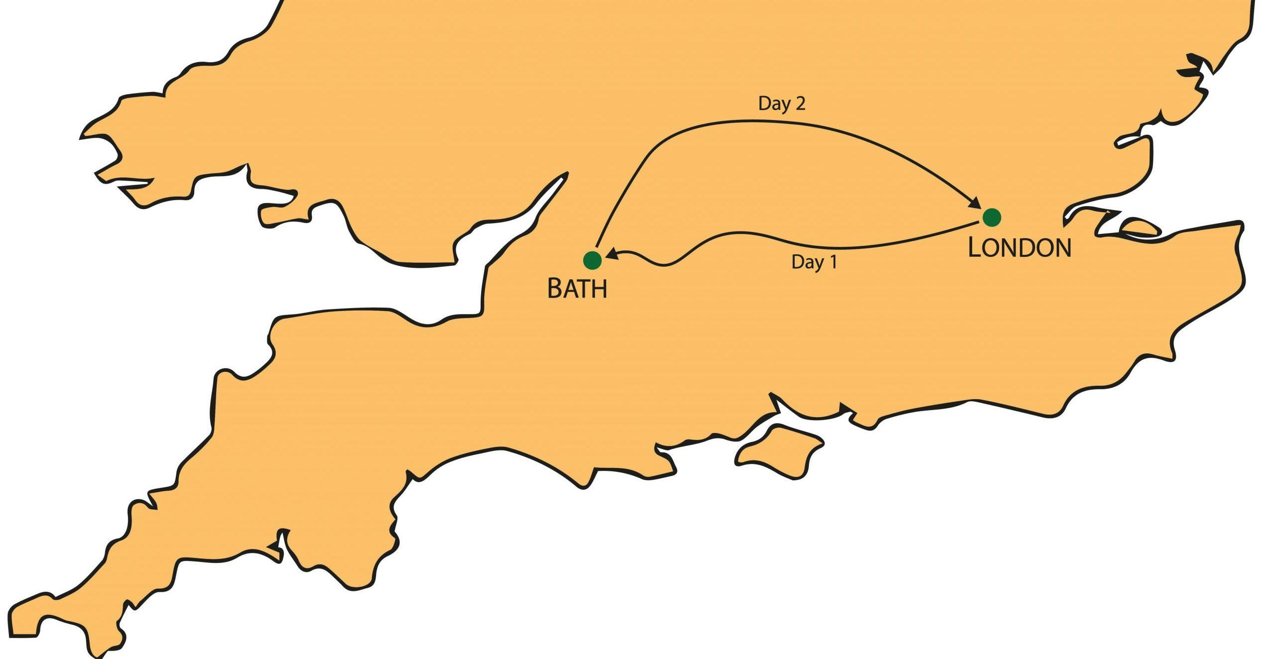 Bath Cotswolds Oxford Tour Map