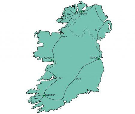 Ireland Tour From Dublin Map